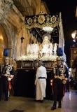 Alicante, España 25 de marzo de 2016 Procesión de Pascua Imagen de archivo libre de regalías