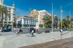 Alicante, Espagne - septembre 2015 : Place 'plaza Puerta Del Mar' Photographie stock