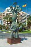 Alicante, Espagne - septembre 2015 : Sculpture en bronze à la 'plaza carrée Puerta Del Mar' Photo libre de droits