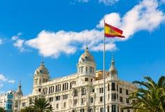 Alicante Explanada de Espana casa Carbonell i Spanien Royaltyfri Bild