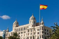 Alicante Explanada de Espana casa Carbonell i Spanien Royaltyfri Fotografi