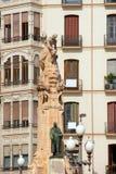 Alicante Explanada de Espana Jose Canalejas monument Royaltyfri Fotografi