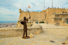 Alicante fortress Royalty Free Stock Photos