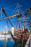 Alicante - gammalt seglingskepp Royaltyfria Bilder