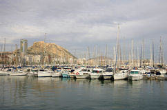 Alicante harbor Royalty Free Stock Images