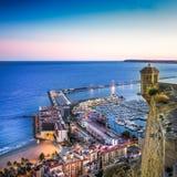 Alicante harbor Stock Image