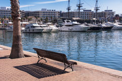 Alicante harbor Royalty Free Stock Photo
