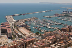 Alicante Harbour Royalty Free Stock Photo