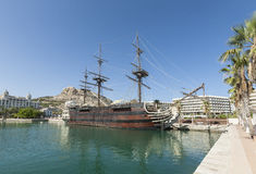 Alicante Harbour on Costa Blanca in Spain Royalty Free Stock Photography