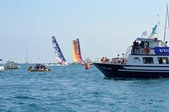 Alicante im Hafen-Bein des Volvo-Ozean-Rennens 2014 - 2015 Lizenzfreies Stockbild