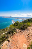Alicante Javea harbour beach cityscape view Royalty Free Stock Photo