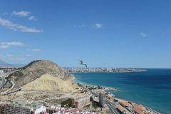 Alicante - It is known for its sandy Mediterranean beach. Royalty Free Stock Image