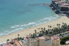 Alicante - It is known for its sandy Mediterranean beach. Stock Photography