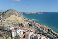Alicante - It is known for its sandy Mediterranean beach Stock Photo