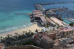 Alicante - It is known for its sandy Mediterranean beach. Stock Image