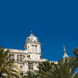 Alicante La Explanada buildings with plam trees in Valencia Royalty Free Stock Photo