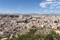 Alicante - la ville en région autonome de Valensiysky photo libre de droits
