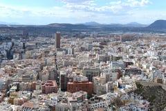 Alicante - la ville en région autonome de Valensiysky image stock