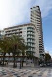 Alicante - la ville en région autonome de Valensiysky Photographie stock