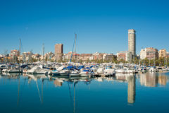 Alicante marina Royalty Free Stock Photo