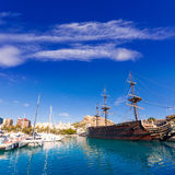 Alicante marina port boats in Mediterranean spain Stock Photography