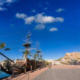 Alicante marina port boats in Mediterranean spain Stock Photo