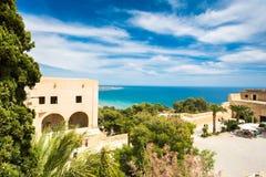 Alicante, mening van Santa Barbara Castle op de Benacantil-berg stock foto