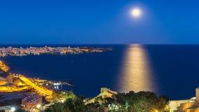 Alicante moon Royalty Free Stock Photo