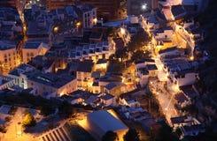Alicante på natten, Spanien Arkivfoto