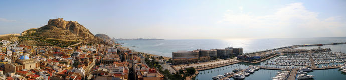Alicante panoramic royalty free stock images