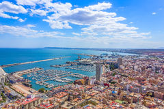 Alicante panoramic view Stock Photography