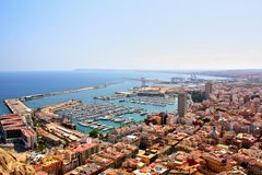Alicante panoramic view, Spain Stock Photography