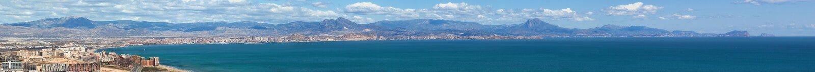 alicante panoramica Arkivbilder