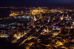 Alicante par Night Photos stock