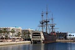 alicante piratkopierar shipen spain Royaltyfri Fotografi
