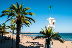 Alicante Playa de San Juan stock image