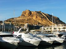 alicante port Arkivbild