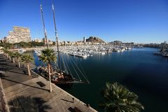 Alicante port Royalty Free Stock Photo