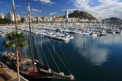 Alicante port Stock Photos