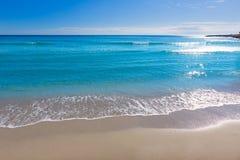 Alicante Postiguet beach at Mediterranean Spain Royalty Free Stock Images