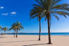 Alicante Postiguet beach at Mediterranean Spain Royalty Free Stock Image