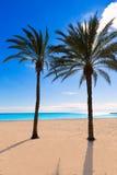 Alicante Postiguet beach at Mediterranean Spain Stock Image