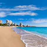 Alicante San Juan beach of La Albufereta Stock Photo
