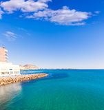 Alicante and san Juan in Mediterranean sea of Spain Stock Image