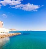 Alicante and san Juan in Mediterranean sea of Spain Stock Image