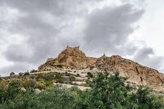 Alicante Santa Barbara Castle stock afbeelding