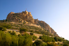 Alicante Santa Barbara Castle in Spain Royalty Free Stock Image