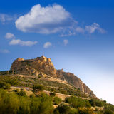 Alicante Santa Barbara Castle in Spain Royalty Free Stock Photography