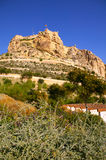 Alicante Santa Barbara Castle in Spain Stock Photography