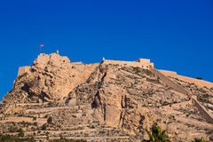 Alicante Santa Barbara castle in  spain Stock Photo
